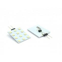 LED žárovka 2,4W 12xSMD2835 G4 200lm 12V DC STUDENÁ
